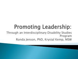 Promoting Leadership: