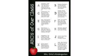 Mrs. Ortiz's Kindergarten