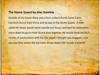 The Home Guard by Alec Hambly
