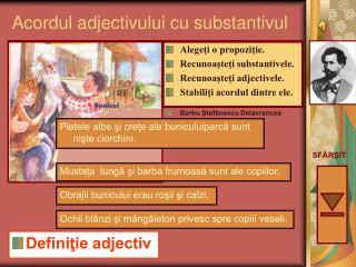 Acordul adjectivului cu substantivul