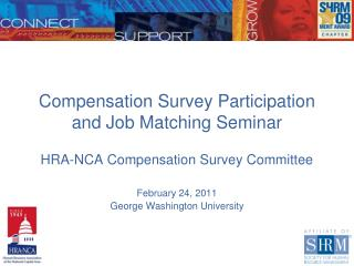 Compensation Survey Participation and Job Matching Seminar
