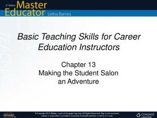 Basic Teaching Skills for Career Education Instructors