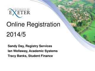 Online Registration 2014/5