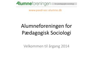 Alumneforeningen for Pædagogisk Sociologi