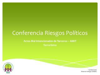 Conferencia Riesgos Políticos