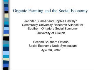 Organic Farming and the Social Economy