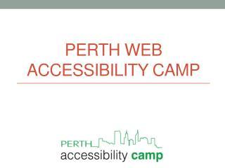 Perth web accessibility camp