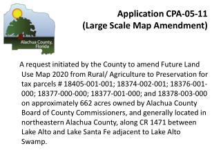Application CPA-05-11  (Large Scale Map Amendment)