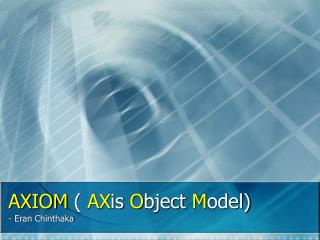 AXIOM  (  AX is  O bject  M odel)