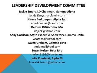 Leadership Development Committee