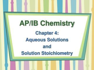 AP/IB Chemistry