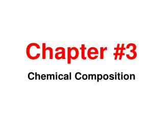 Chapter #3