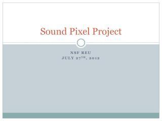 Sound Pixel Project