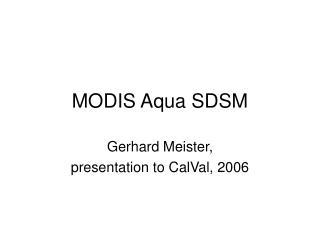 MODIS Aqua SDSM