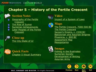 Chapter 5 – History of the Fertile Crescent