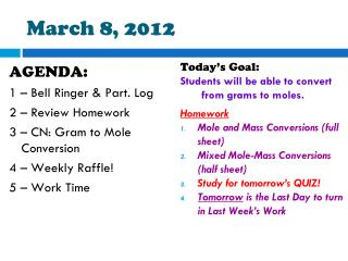 March  8,  2012