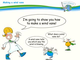A wind vane tells you which way the wind is blowing