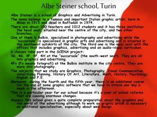 Albe Steiner school, Turin