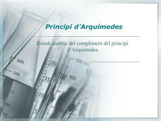 Principi d'Arquímedes