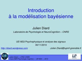 Introduction  à la modélisation bayésienne