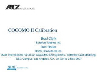 COCOMO II Calibration