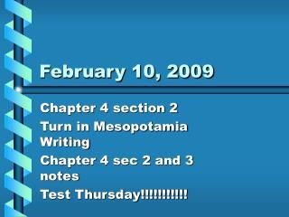 February 10, 2009