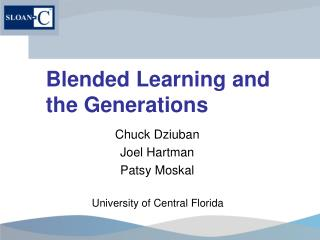 Blended Learning and the Generations