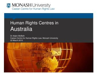 Human Rights Centres in Australia