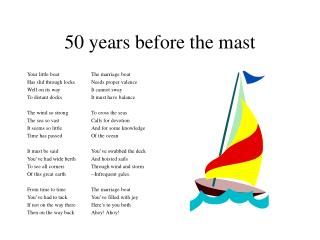 50 years before the mast