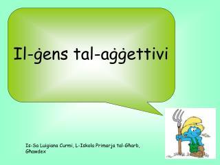 Il-ġens tal-aġġettivi