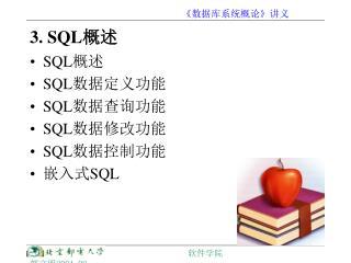 3. SQL 概述