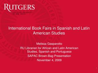 International Book Fairs in Spanish and Latin American Studies