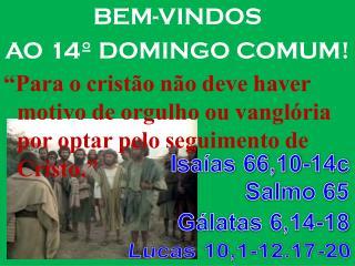 BEM-VINDOS  AO 14º DOMINGO COMUM!