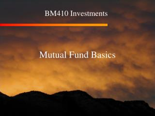 BM410 Investments