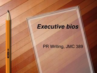 Executive bios