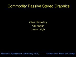 Commodity Passive Stereo Graphics