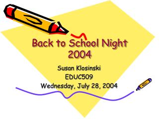Back to School Night 2004