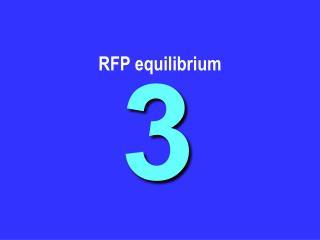 RFP equilibrium