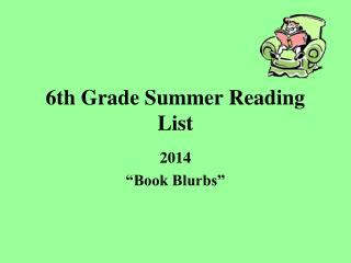 6th Grade Summer Reading List