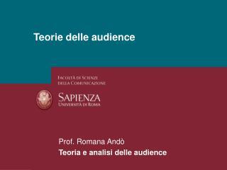 Teorie delle audience