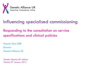 Influencing specialised commissioning