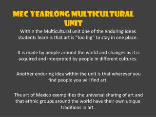 MEC Yearlong Multicultural Unit