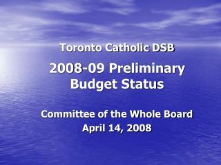 Toronto Catholic DSB