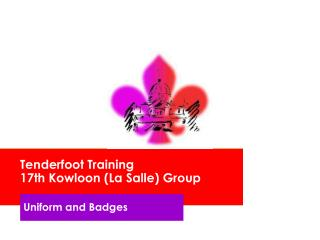 Tenderfoot Training 17th Kowloon (La Salle) Group