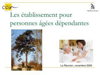 Les établissement pour personnes âgées dépendantes