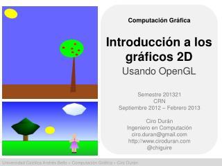 Introducción  a los  gráficos  2D