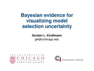 Bayesian evidence for visualizing model selection uncertainty