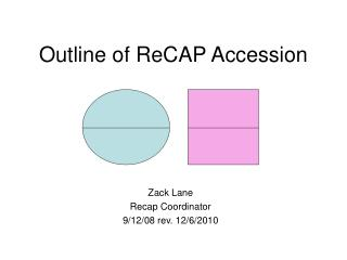 Outline of ReCAP Accession