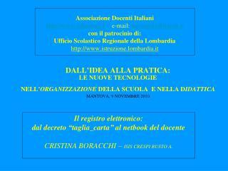 Associazione Docenti Italiani adiscuola.it     e-mail:  adi-scuola@tiscali.it