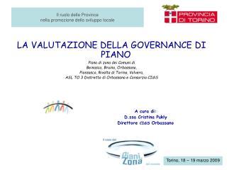 Il ruolo delle Province  nella promozione dello sviluppo locale